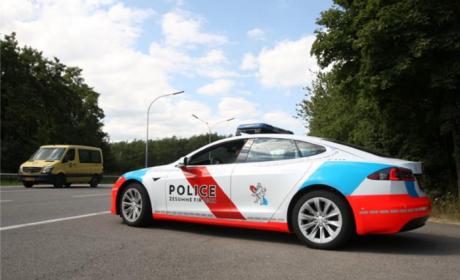 特斯拉Model S的新角色:警车!
