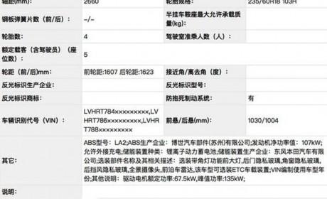 东风本田CR-V PHEV版申报图 明年初上市