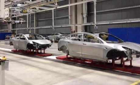 特斯拉上海超级工厂再曝内部图:Model 3车身或已经下线