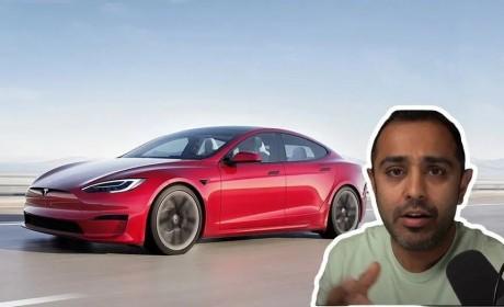 """方向盘这次真""""方""""了!特斯拉Model S Plaid首次公开试驾"""