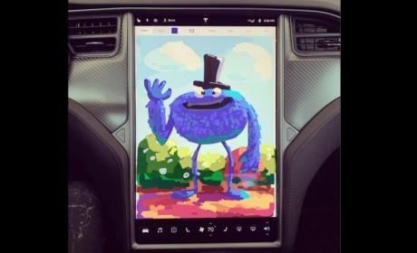 特斯拉升级车内仪表盘Sketchpad 并将添加卡拉OK功能