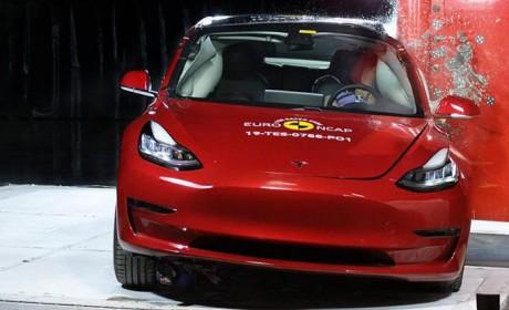 特斯拉Model 3在E-NCAP撞出了5星评级 安全辅助更是撞出了历史最高分