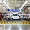 奥迪首款纯电动SUV e-tron在一汽-大众佛山工厂下线