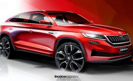斯柯达首款轿跑SUV柯迪亚克GT草图发布
