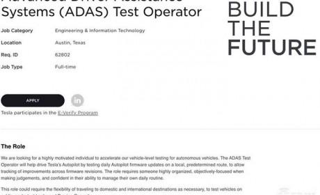 特斯拉正招聘自动驾驶测试司机 或为向DMV提交测试报告做准备