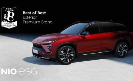 """国货之光 蔚来汽车ES6获得汽车品牌大赛""""最佳设计车型"""""""