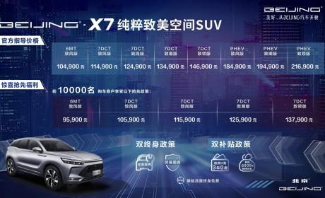 BEIJING-X7正式上市 官方售价10.49万-21.69万元
