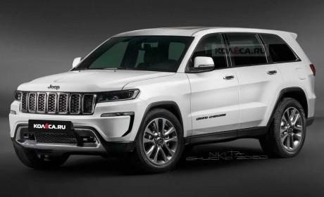 2021款Jeep大切诺基全新渲染图曝光 前后灯组经过重新设计