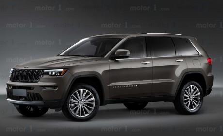 2022款Jeep大切诺基渲染图曝光 外观更犀利