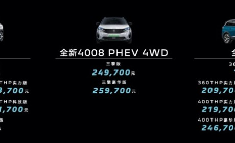 东风标致全新4008/全新5008上市 售价16.97万元起