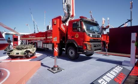 沃尔沃底盘车亮相中国消防展 携手三一重工发力高端消防车